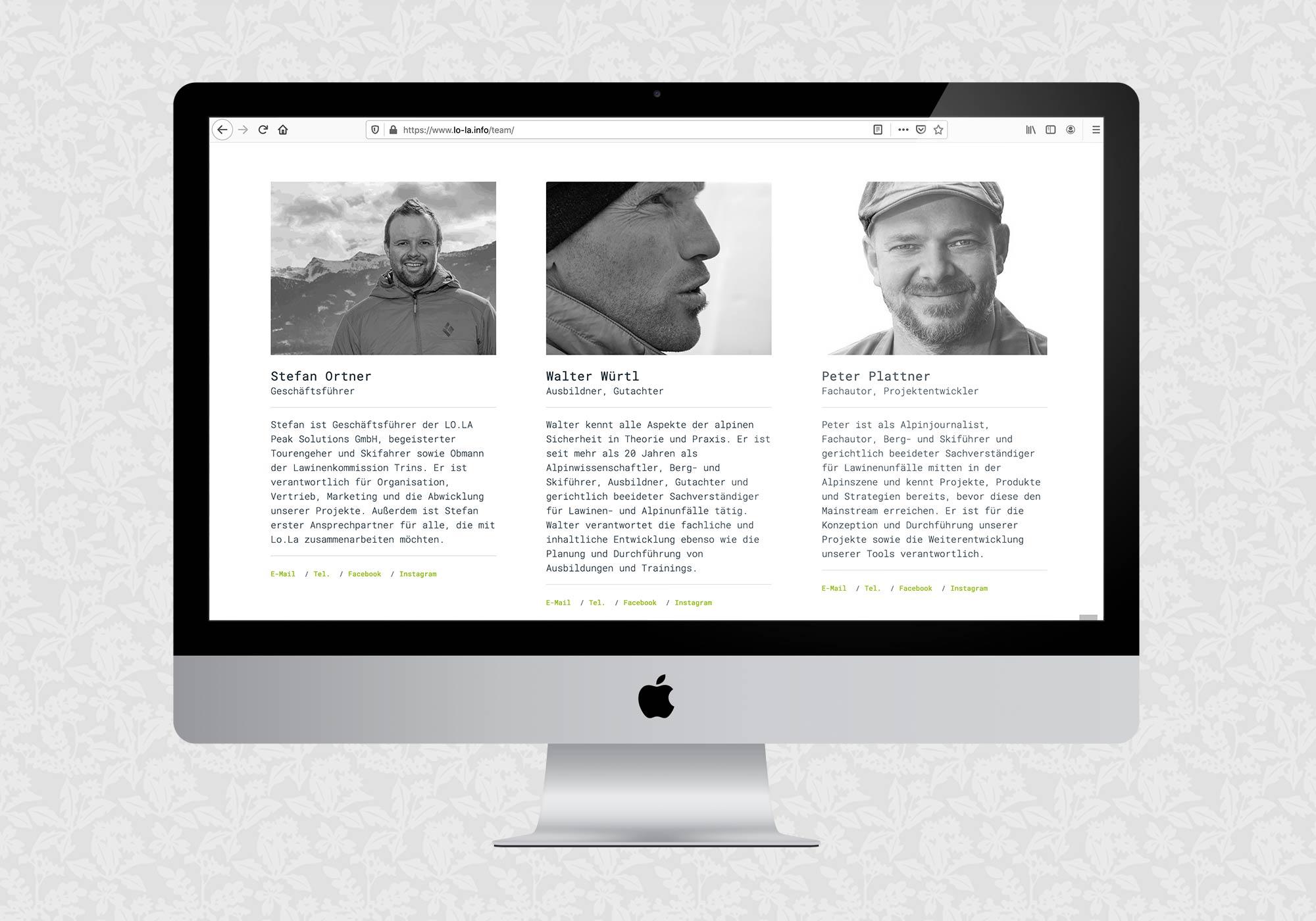 Website für LO.LA | © fein fein