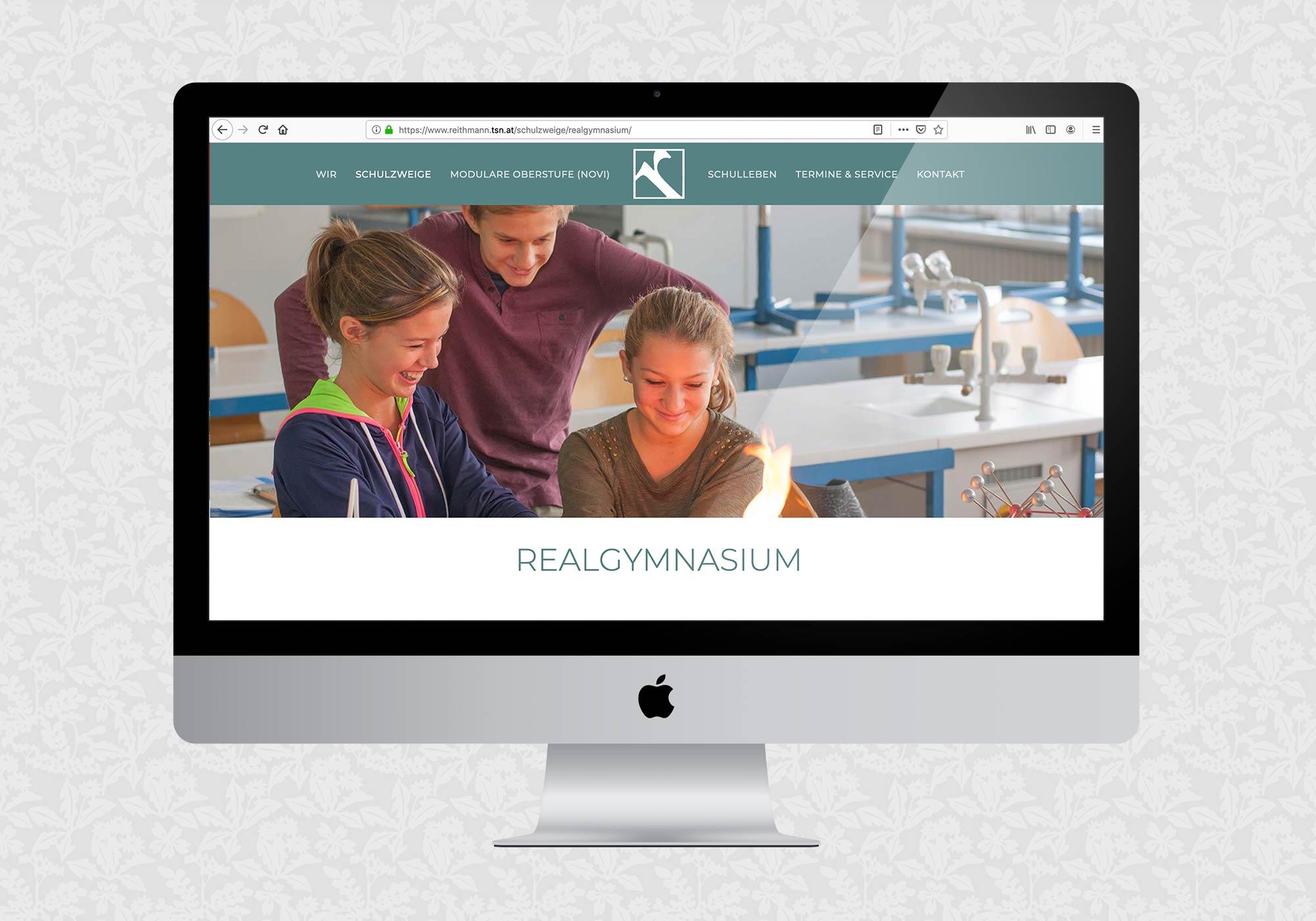 Website für das Reithmanngymnasium | © fein fein