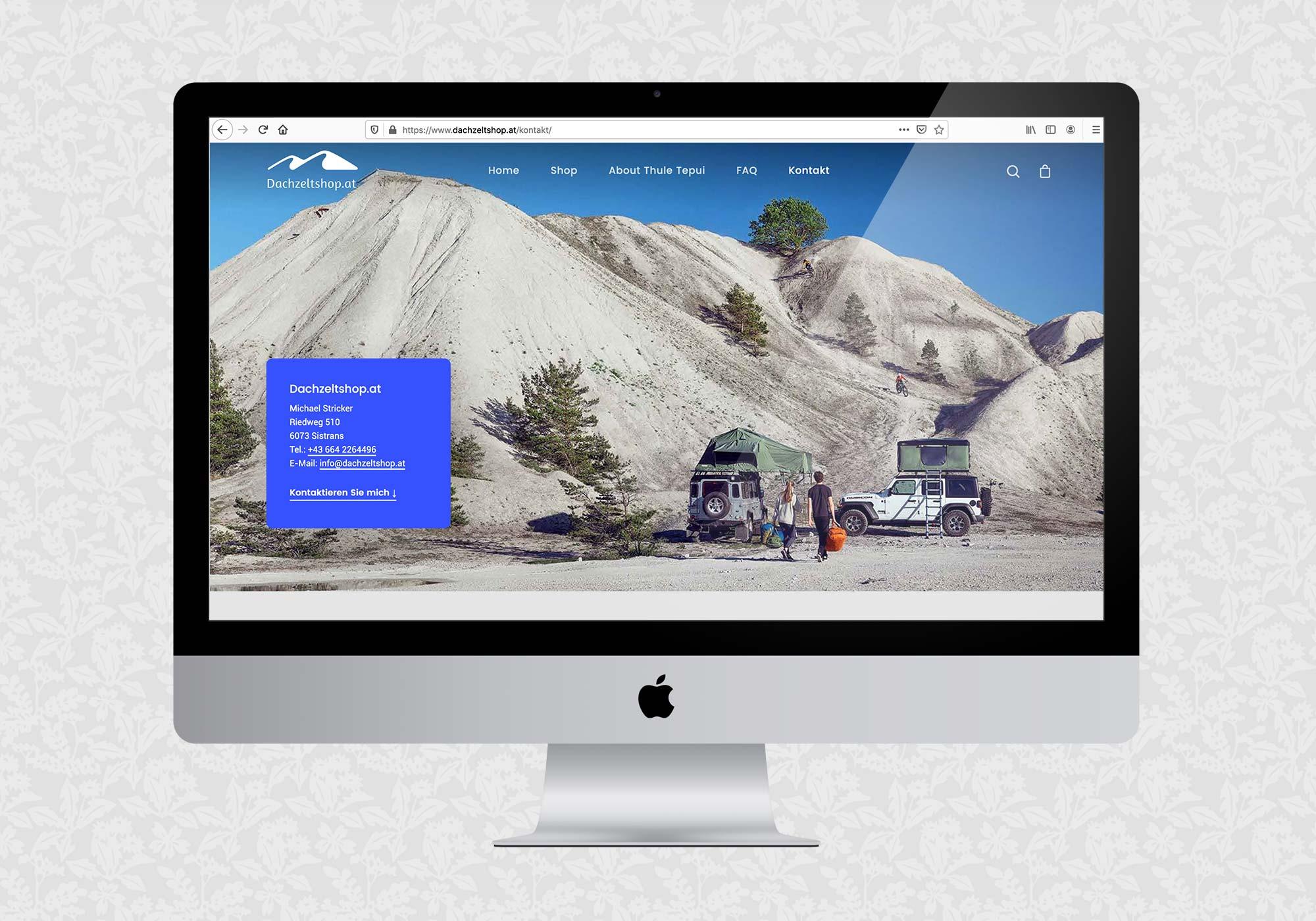 Webshop für Dachzeltshop.at | © fein fein