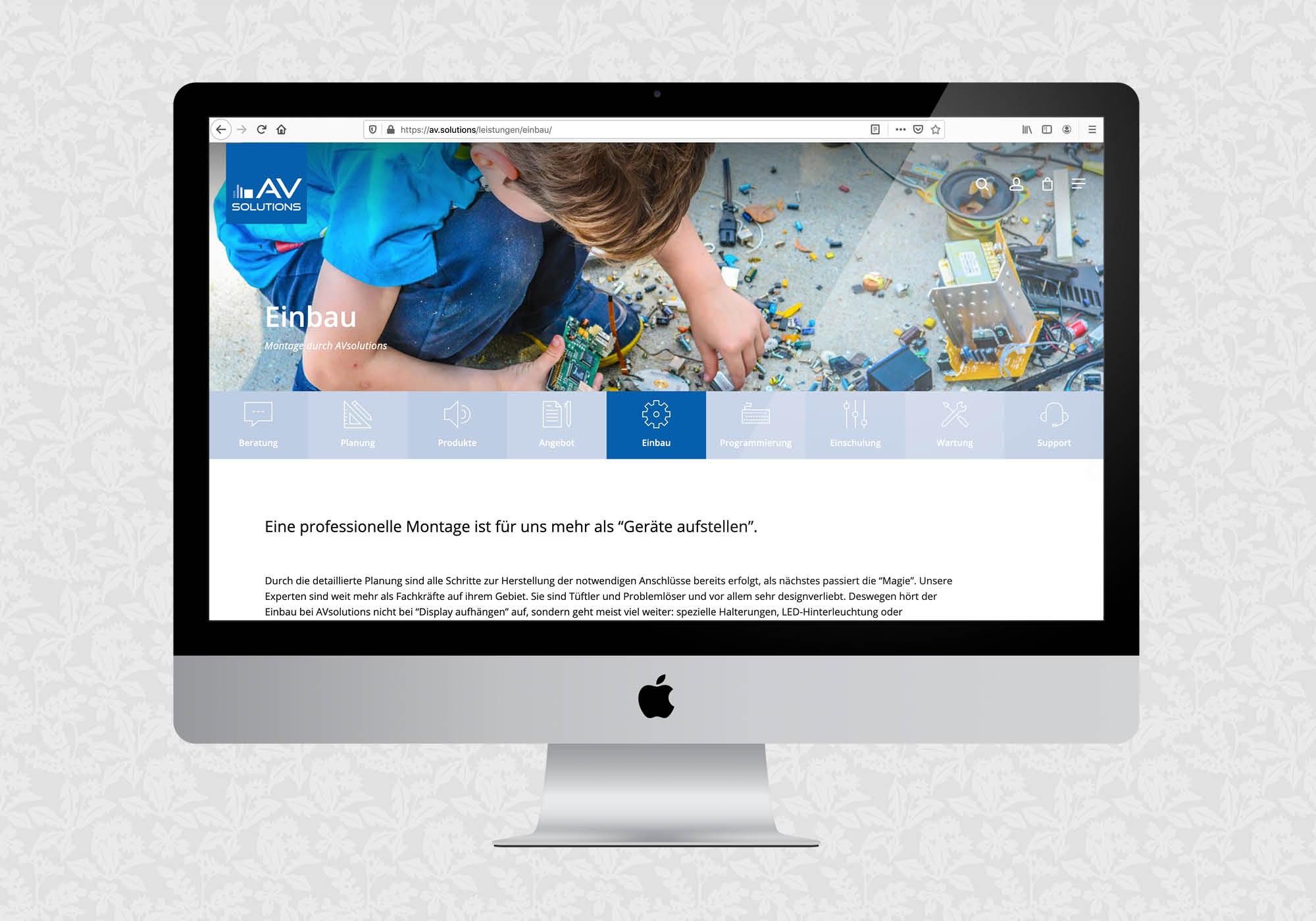 Website für AVsolutions | © fein fein
