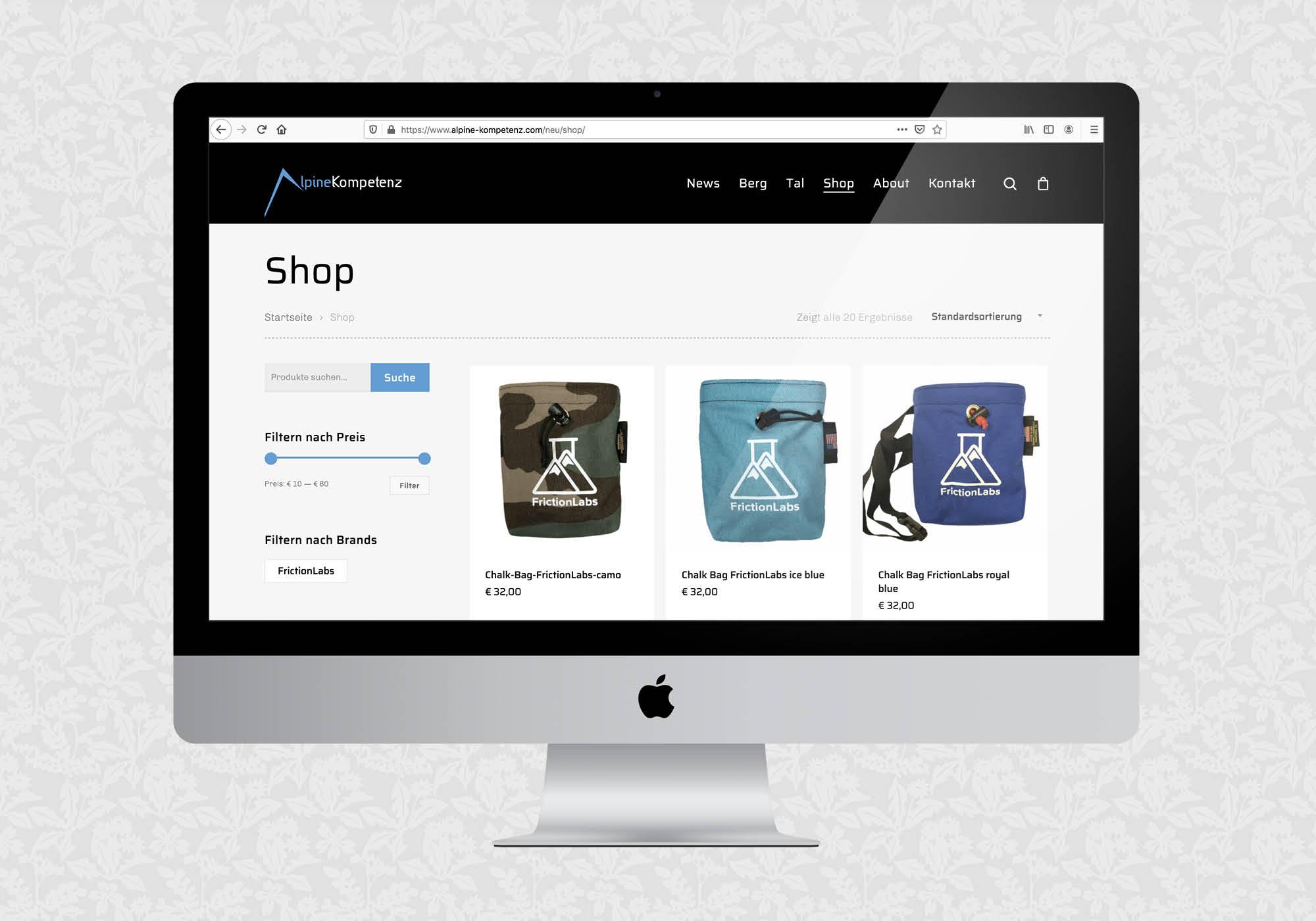 Website für Alpine Kompetenz | © fein fein