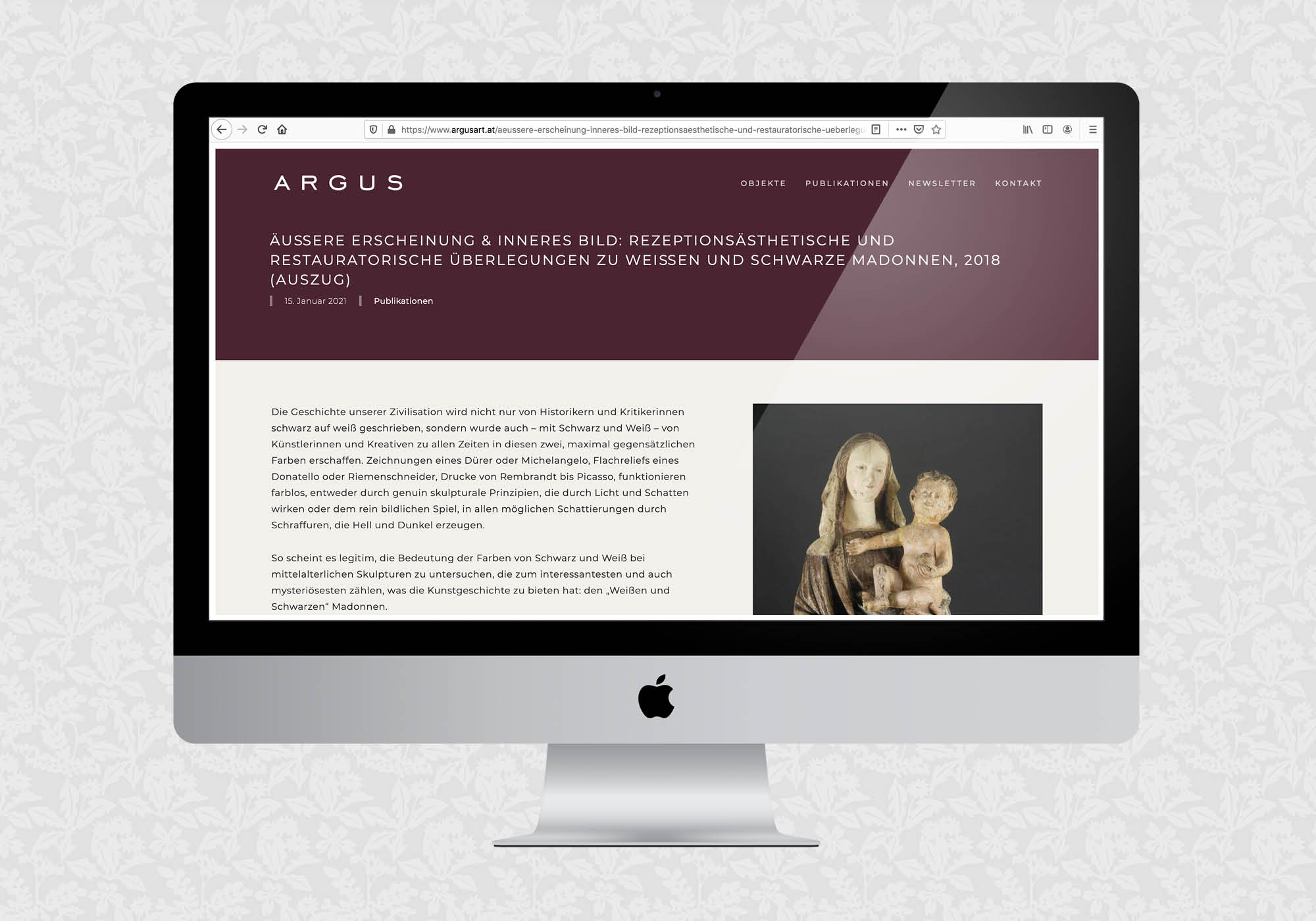 Website für ARGUS | © fein fein