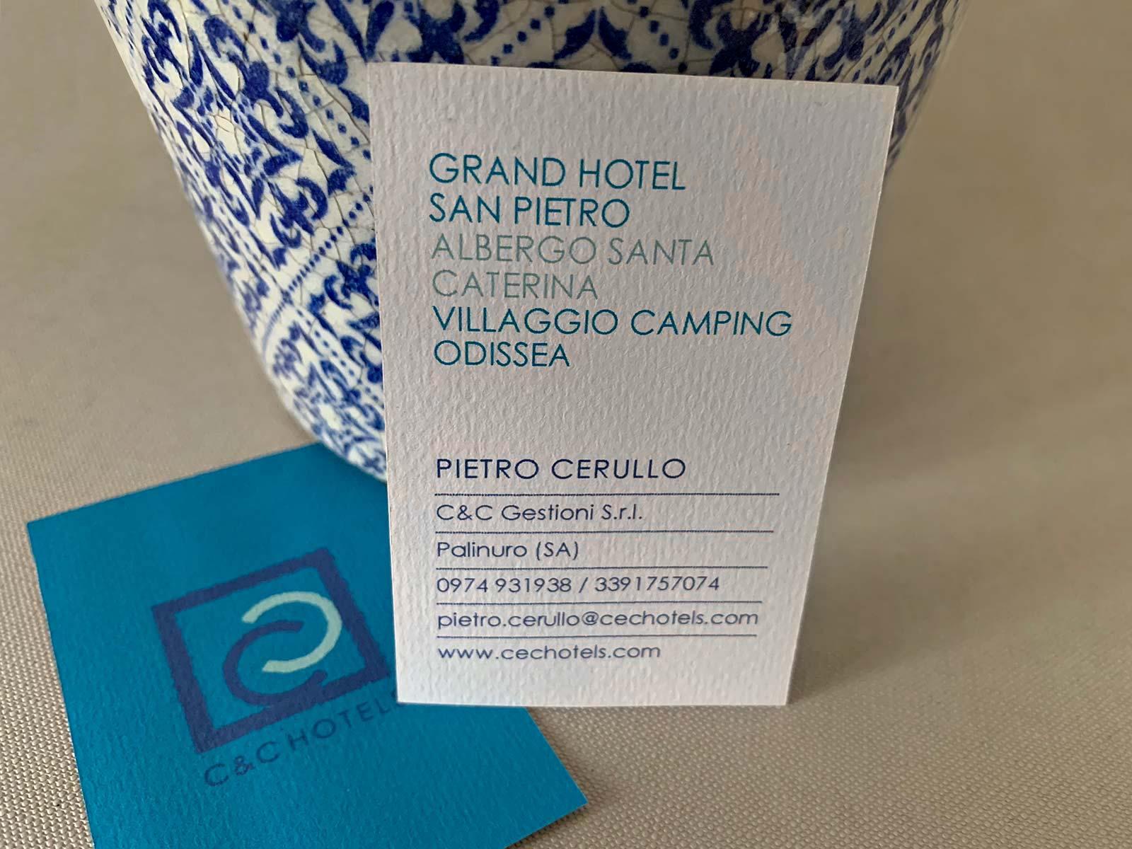 Visitenkarte für C&C Hotels   © fein fein