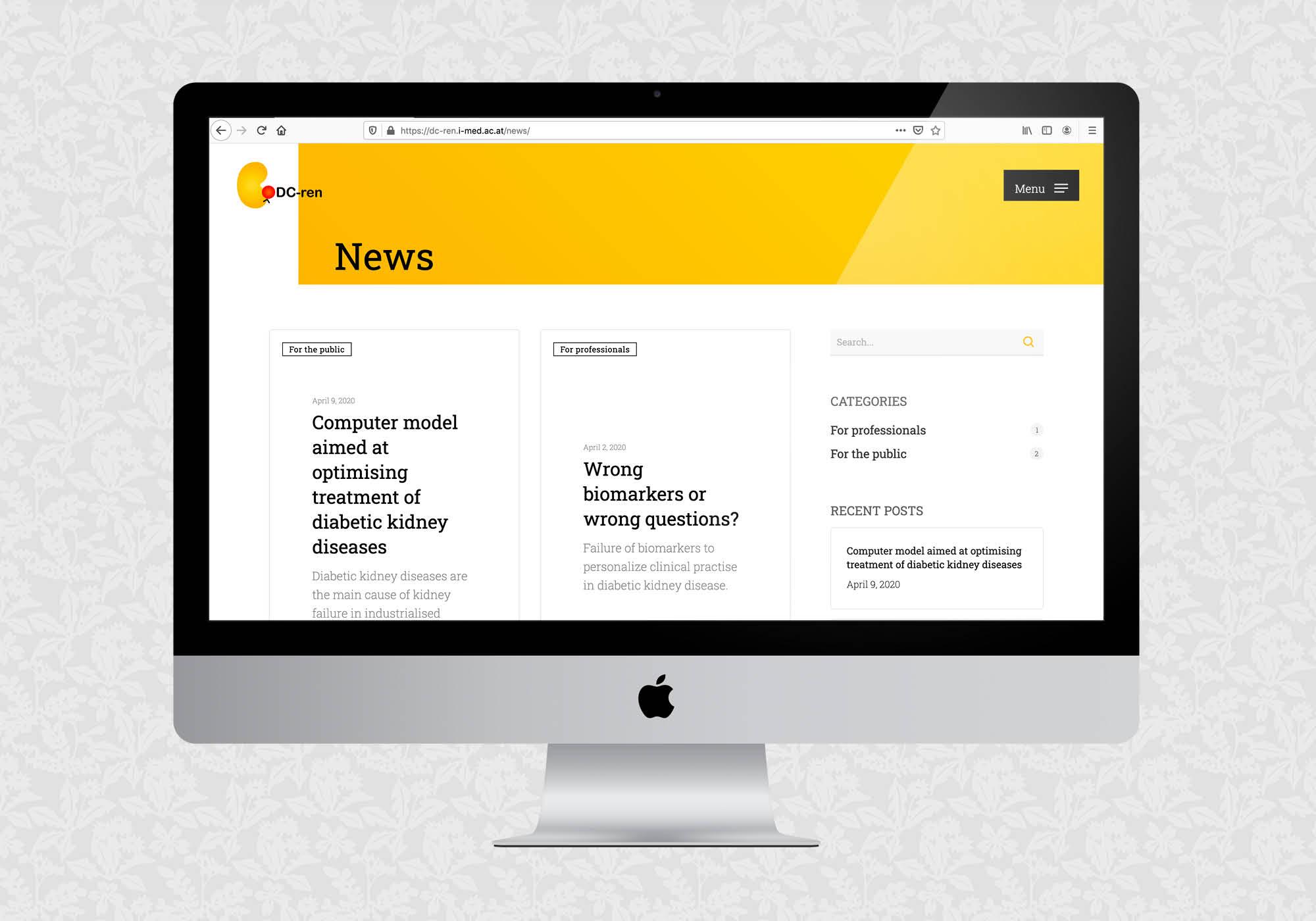 Website für das Projekt DC-ren der MedUni Innsbruck | © fein fein