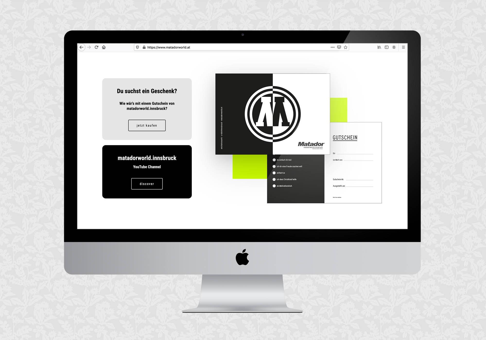 Website für matadorworld.innsbruck   © fein fein