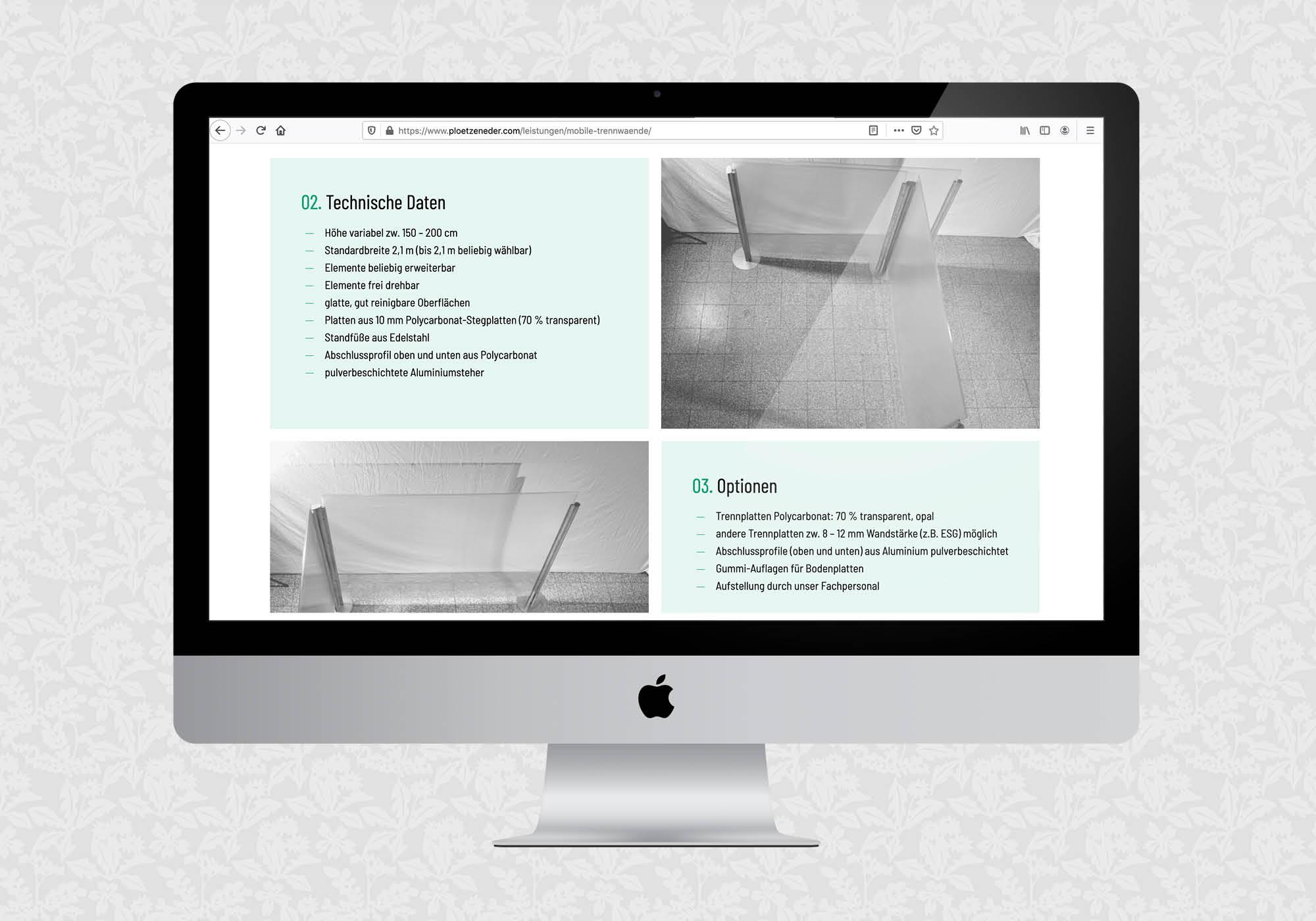 Website für die Plötzeneder GmbH | © fein fein